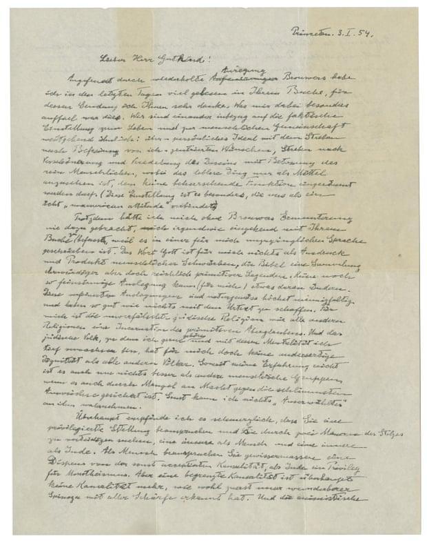 """爱因斯坦""""上帝之信""""被拍卖, 成交价289万美元"""