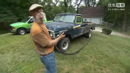老外用高压水枪把皮卡车油漆全冲掉,瞬间感觉自己买了一台新车
