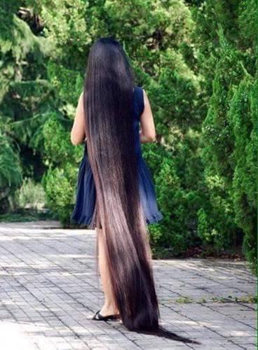 世界上最长头发图片展示图片