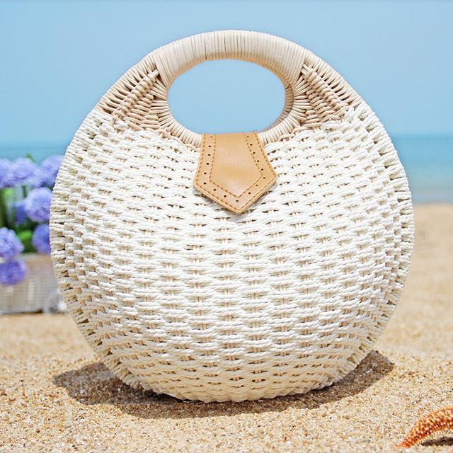 手工编织半身裙_除了长裙更不可少的手工编织沙滩包, 才是海边度假女神装备