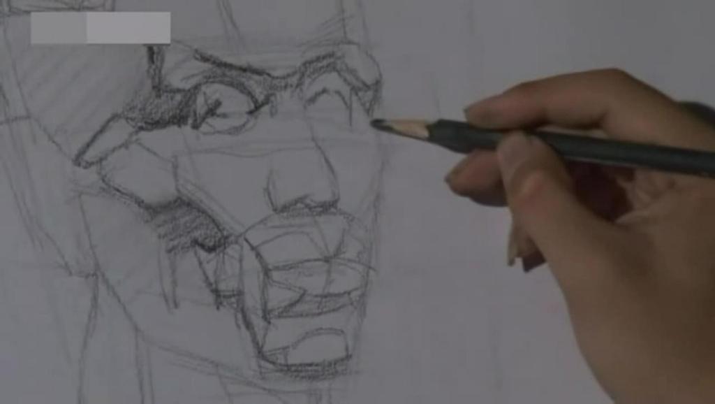 素描静物 陶罐静物素描绘画步骤 速写简单人物图片 打开 素描苹果结构