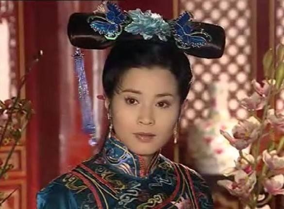 清朝妃子的手绘图片