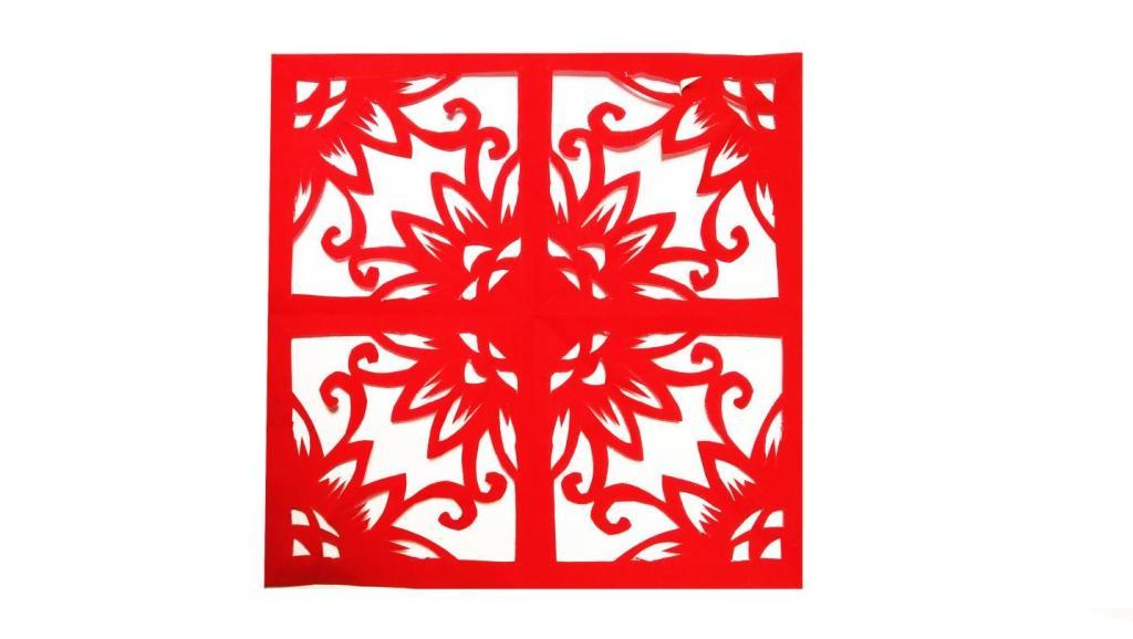剪纸图案大全 儿童剪纸之叶子 中国剪纸教程