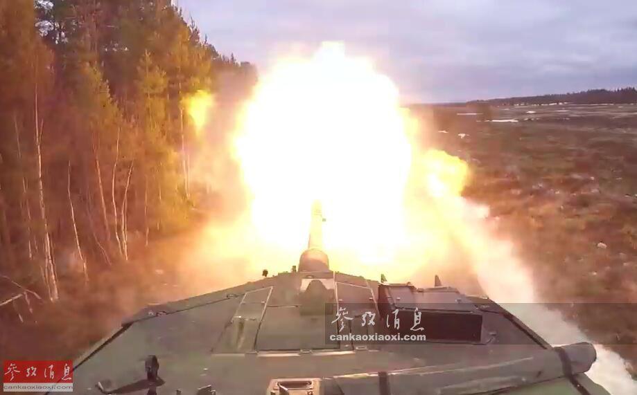 1分钟内灭六目标! 瑞典豹2坦克实弹打靶