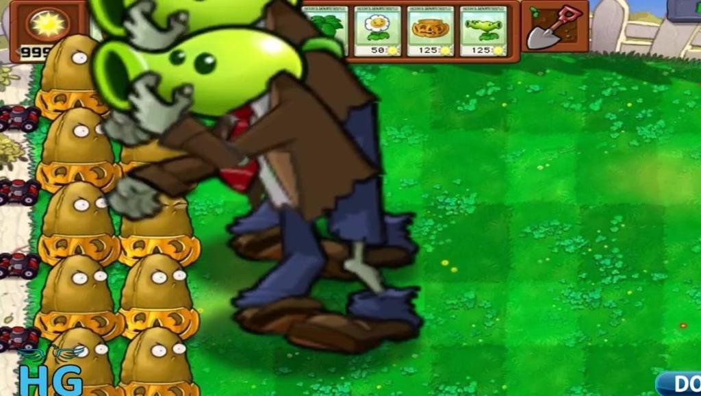 植物大战僵尸-植物: MMP,你们怎么都变得这么大!一口一个!