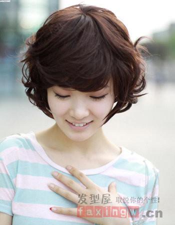 韩范短发烫发图片女九: 烫发发型,是当下俊男靓女们都喜欢的,这款