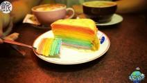 彩虹一样的蛋糕,带给人初恋一样的感觉!