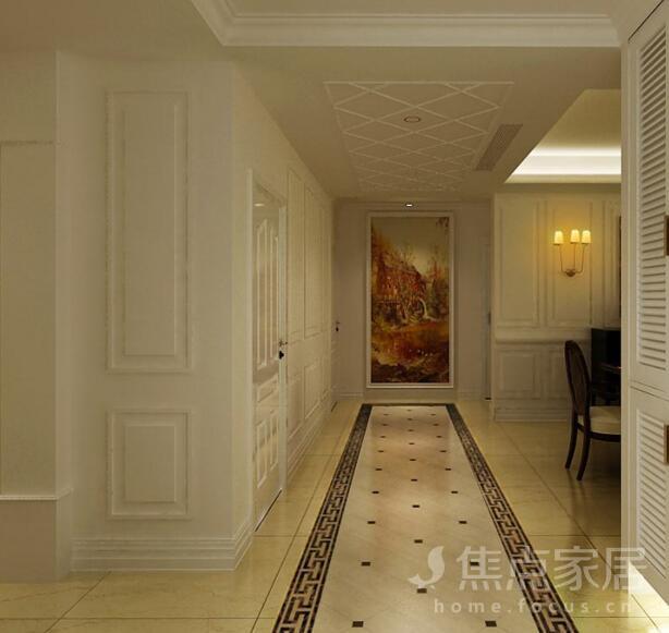 装修过的朋友都知道,如果地面铺瓷砖,除了客厅、餐厅这些空间之外,过道走廊也不能放过。为了更好的分隔空间,往往过道的瓷砖花纹会区别于其他瓷砖。下面一组过道花砖拼贴效果图 过道花砖图片,就为您提供一些参考。  不管是何种装修风格,过道只要装饰得当,就会给居室增添光彩。这条过道采用褐色和白色两种地砖搭配,铺设出来的地砖拉长了过道,看上去室内面积更大了,过道花砖的图案虽然简单,但是和整个居室搭配起来显得很华丽。  过道花砖的深浅色彩自然形成图案,与深色家具搭配起来,显得华丽大气,不让整个空间沉闷。过道两边黑色花