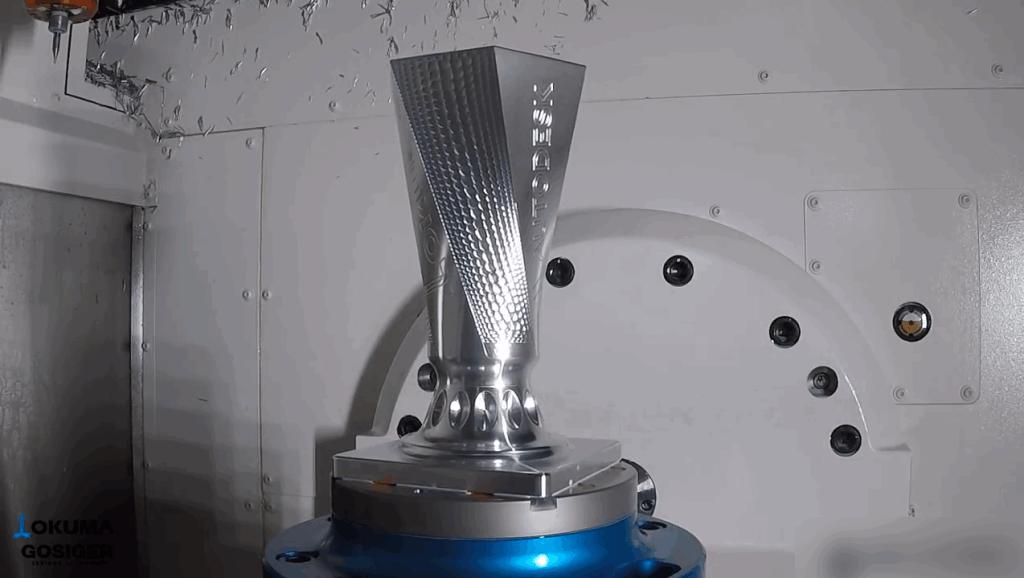 金属奖杯的数控加工过程,这样的技术恐怕没多少人能做到