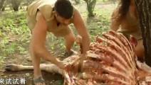 原始大冒险: 男女档荒野求生白白发现几十斤大家伙,急的像猴子