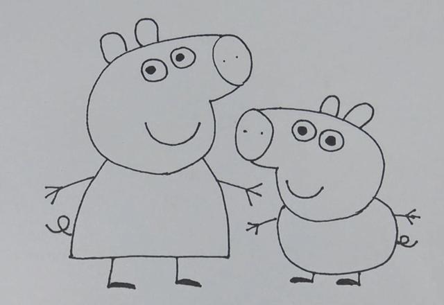 延伸阅读:陪小孩一起画简易小猪佩奇何乔治的画法, 简单的学一下教