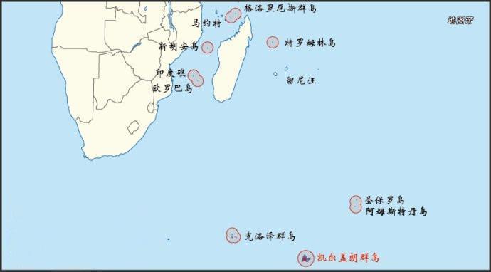 分别叫做凯尔盖朗群岛,克罗泽群岛,阿姆斯特丹群岛和圣保罗群岛.