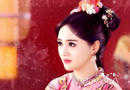 手绘画最美女明星, 郑爽排第三, 而第一美的好妖艳!