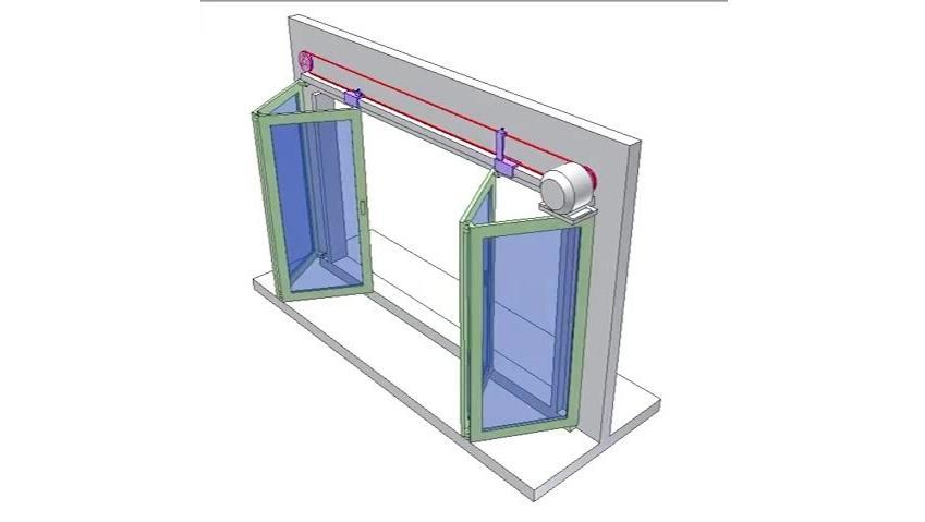 科技奇趣: 电缆控制折叠门