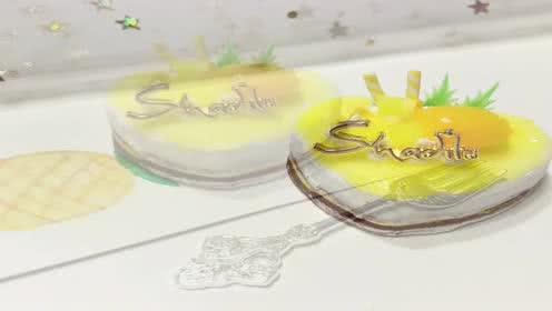 玩具视频 橡皮泥手工制作水果蛋糕 点心形草莓蛋糕