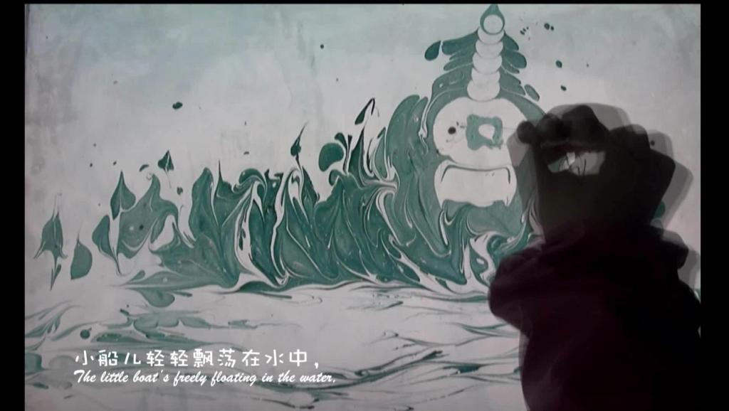 北京白塔(White pagoda in Beihai Park) 阿夏水影(ReasonSummer water ink