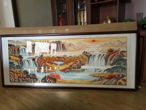 ——客户李林宏《紫气东来》聚宝盆山水画实拍 易从网不仅全部作品都