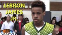 勒布朗詹姆斯的儿子打球超燃视频 这运球是学库里呢?