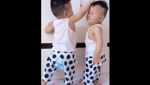 哥哥总是拍打弟弟的头,接下来弟弟被哥哥拍懵圈了!