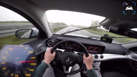 主视角记录德国高速试驾奔驰Mercedes E220d ALL TERRAIN