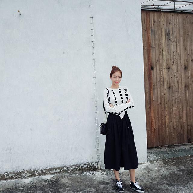 搭配半身裙的上衣_淑女范半身裙, 搭配不同的上衣就能穿出不一样的感觉
