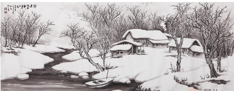 吴大恺的国画雪景图片展示图片