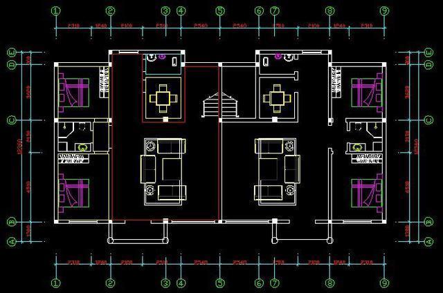 双拼房子的平面设计图