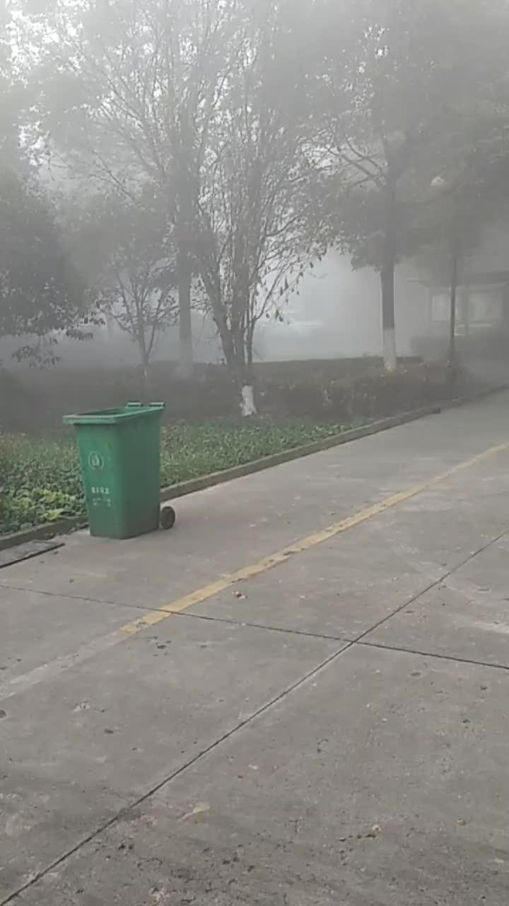 浓雾下的张家港永联小镇