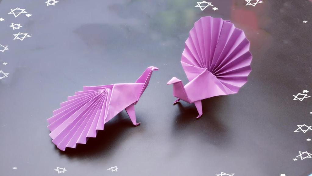 小朋友们都想折,手工折纸视频教程 打开 3分钟学会孔雀折纸,做法真的
