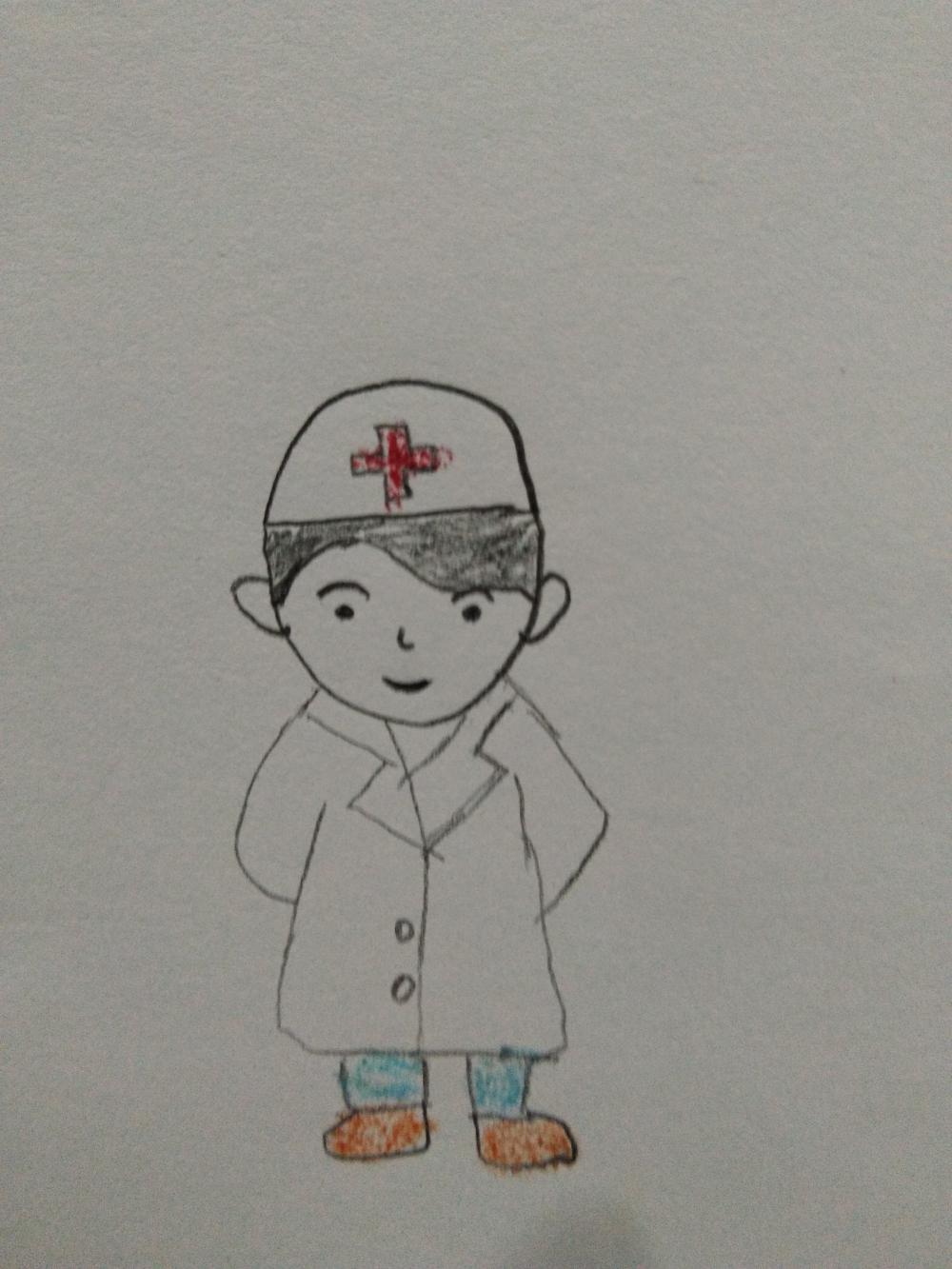 医生儿童手绘图画画法