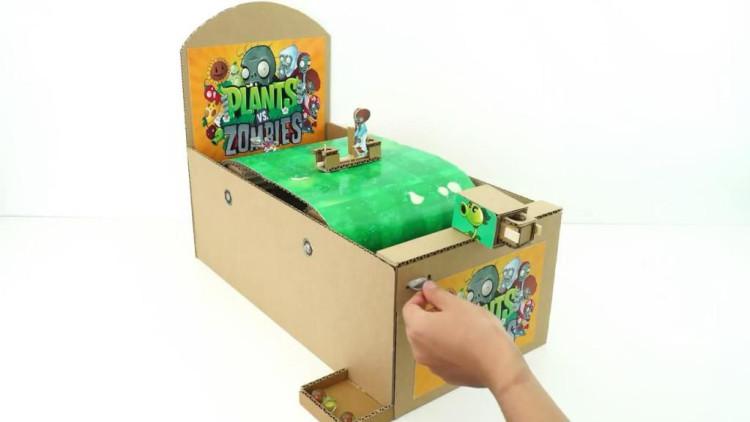 """创意手工diy,制作""""植物大战僵尸""""街机游戏机的方法"""
