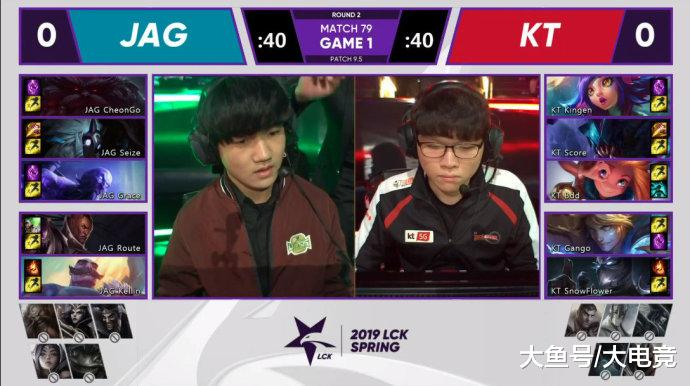 LOL-LCK: KT两把比赛偷家获胜, 2-0击败JAG保留脱离保级区机会