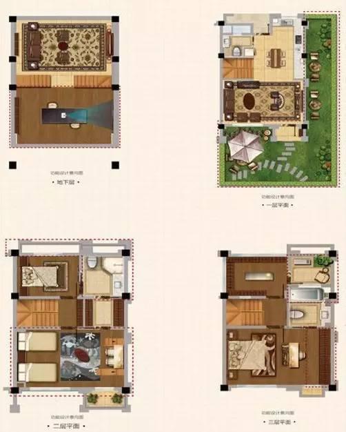 建面约100联排别墅同样带有超高附赠面积,实际上可享有约235面积。该户型地下室采光充足,一层带有超大花园院落。二层带有两间卧室,朝南卧室带有阳台。三层空间内的主卧带有阳光房配露台,各功能区合理布局。 首创旭辉城是嘉定区总价相对较低的项目,此次推出的联排别墅价格可谓是公寓价买别墅。小面积联排别墅在上海也属于稀缺型产品,售楼处所说的开盘即售罄也许并非夸张。关注该项目的购房者可前往售楼处了解情况。