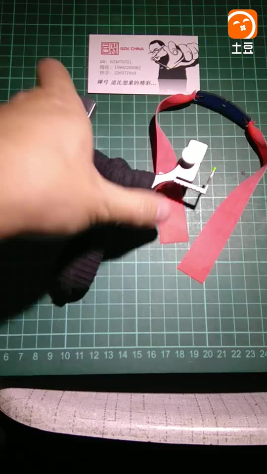 TTF手拧螺丝夹片版上皮筋演示