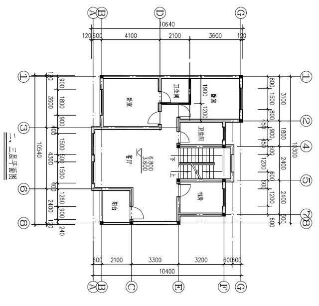 24万三层新农村单家独院式别墅10x10=100平设计图