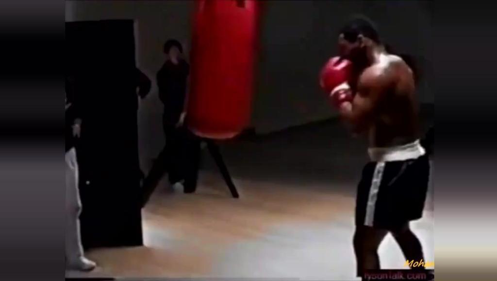 泰森罕见训练视频,这一拳打到普通人身上不死也残