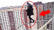 极限运动最震撼的5个时刻,20层高楼边缘玩跑酷,突然脚滑
