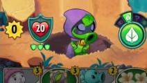植物大战僵尸英雄: 绿影侠疯狂被摔跤狂针对,前期被压成功翻盘