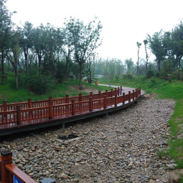 桃园公园雨中景, 我鹤壁的这座园子拿到哪儿都不丢人