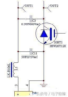上图电流检测电路中,ct1为互感器串联在市电中,可以将电磁炉工作时