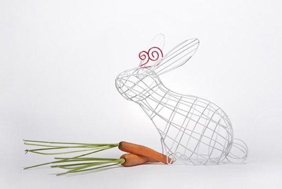 有趣的铁丝动物篮子创意手工造型设计作品