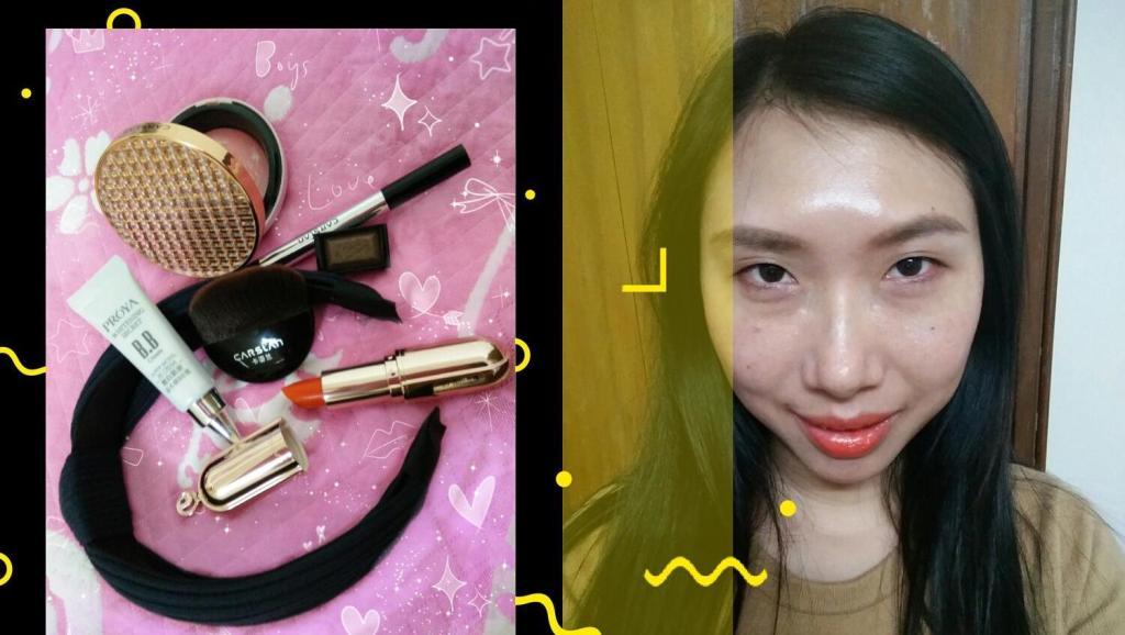 国产化妆品(卡姿兰)也能化出美美的妆容,简单实用的日常美妆,出街约会一样可以!