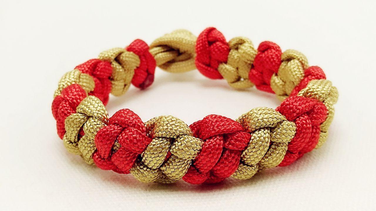 简单的平结编织手表带