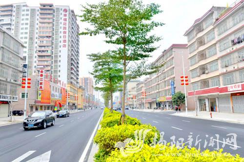 揭西县城北环一路改造工程竣工项目总投资近8640万