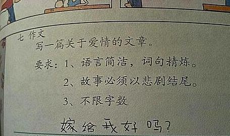 小学生的简短作文只有几个字, 老师却给了100分, 里面写的啥内容