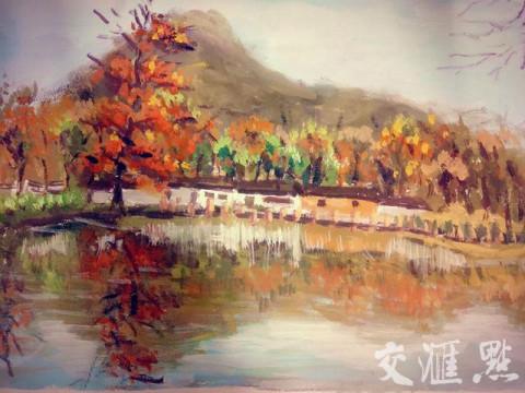熊冰洁介绍,这些画首先通过铅笔打稿后,再用水粉画出颜色,看起来栩栩