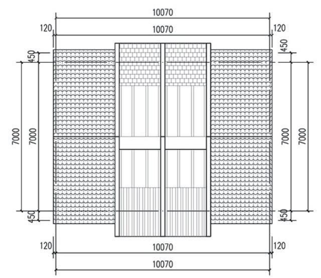 15957093) 宽1024×768高 农村10x 13米自建房设计图,四层够大气大图片