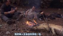 贝爷烤着鳄鱼,谈自己的身世,贝爷也不容易啊!