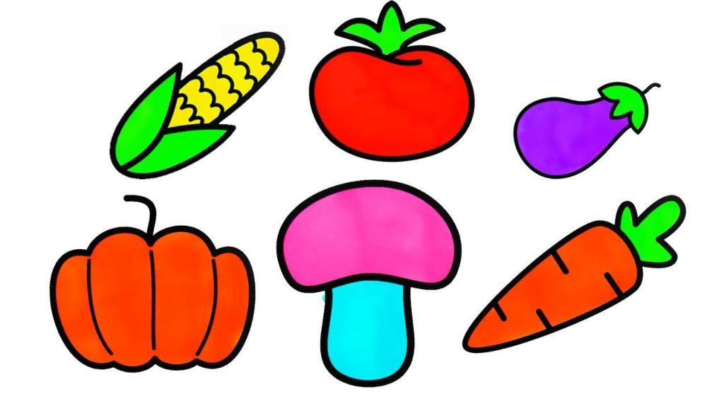 茄子西红柿矢量图