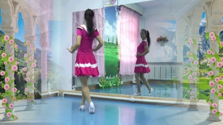 塔河蓉儿广场舞《粉红色的回忆》原创入门舞附背面分解